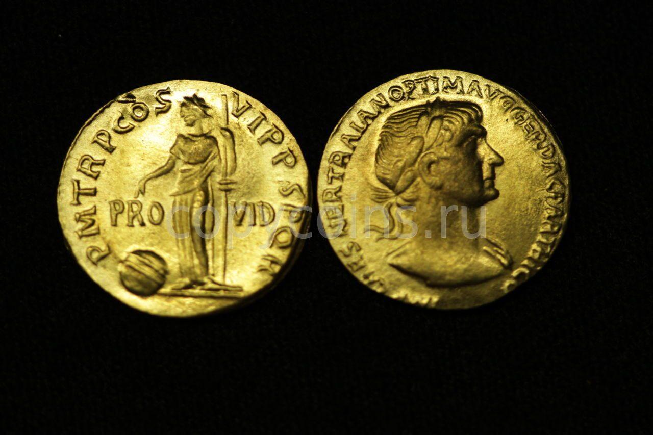 Древнеримская монета pro-vid бронза.