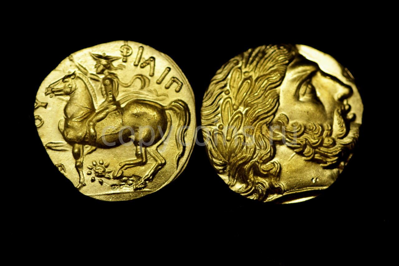 Римская монета бронза конь и всадник смотрят влево портрет с.