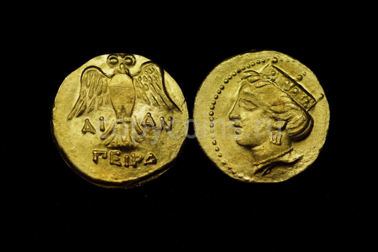 Римская монета орел бронза.