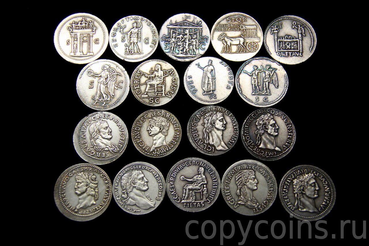Римские монеты серебро герб великого устюга фото
