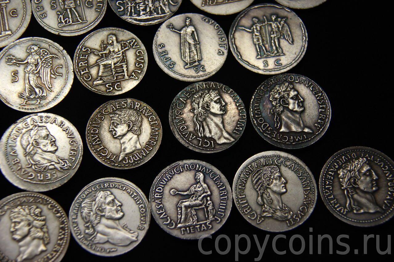Копии древнеримских монет купить медаль дшмг