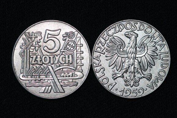 5 злотых 1959 года Польша