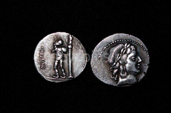 Древнеримаская монета №17 серебро