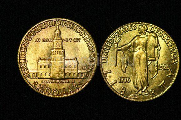 2,5 доллара 1926 года Америка